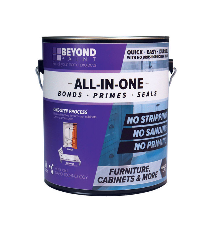 BEYOND PAINT  All-In-One  Mocha  Matte  Acrylic  Paint  1 gal. Water-Based