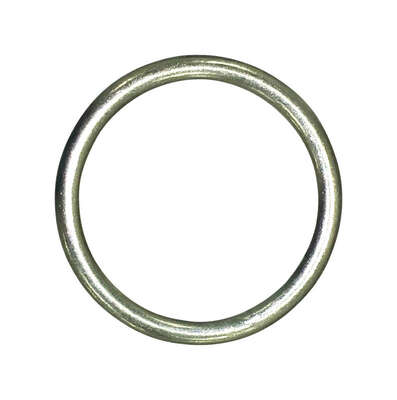 Baron  Jumbo  Nickel Plated  Silver  Steel  1 in. L Ring  1 pk