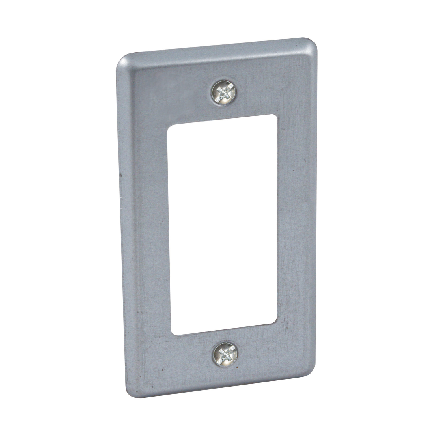 Raco  Rectangle  Steel  1 gang Box Cover  For 1 GFCI Receptacle
