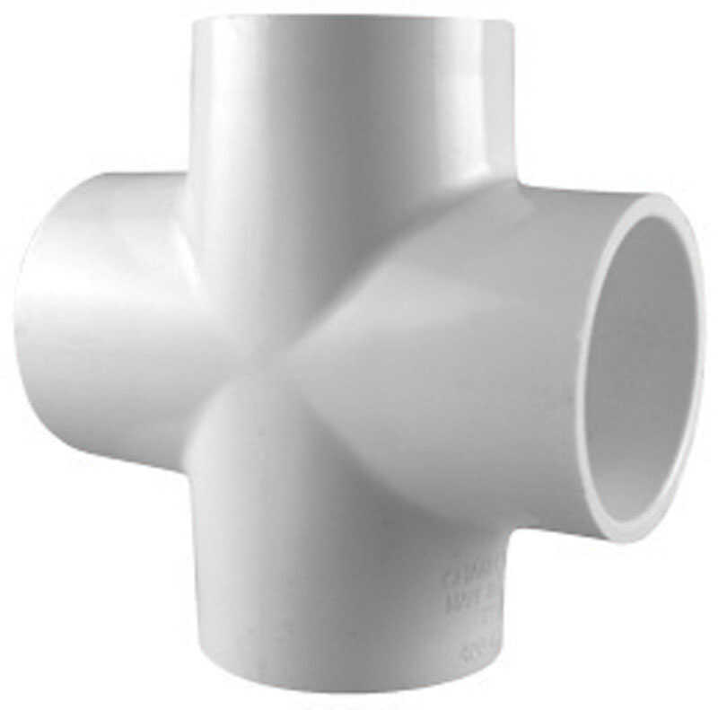 Charlotte Pipe  Schedule 40  1-1/2 in. Slip   x 1-1/2 in. Dia. Slip  PVC  Cross