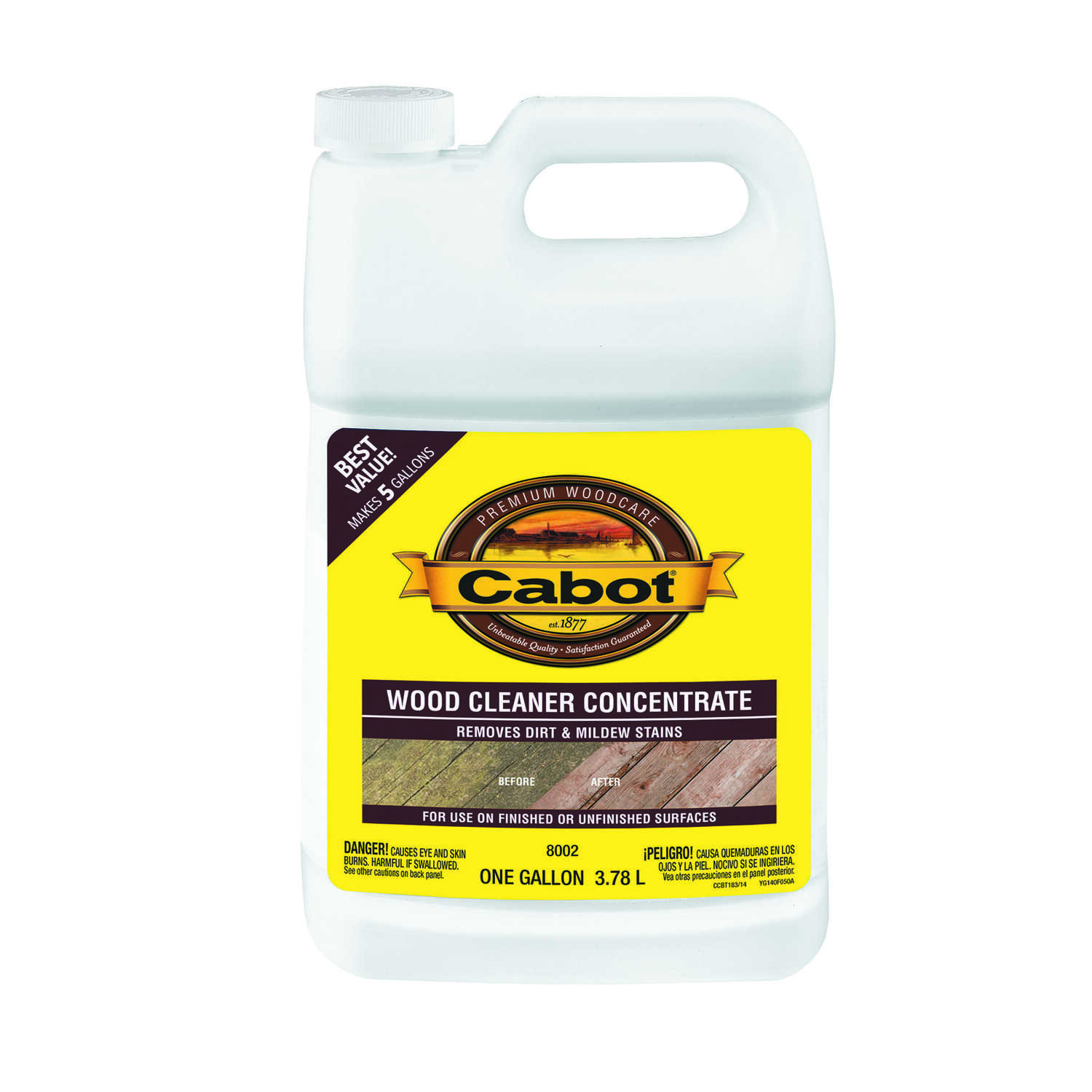 Cabot  Problem-Solver  Deck Cleaner  1 gal.