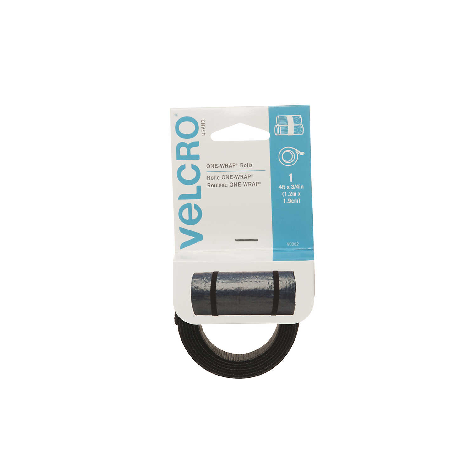 Velcro  One-Wrap  48 in. L Hook and Loop Fastener  1 pk