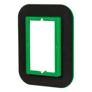 Madison Electric  Draft Seal  Rectangle  1 Gang  Draft Seal Kit  Black/Green  PVC