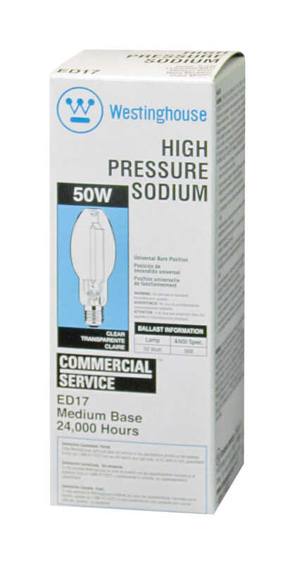 Westinghouse  50 watts ED17  HID Bulb  4000 lumens Warm White  High Pressure Sodium  1 pk
