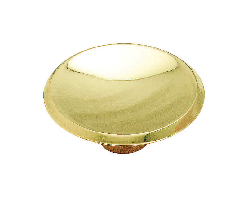 Amerock  Allison  Round  Cabinet Knob  1-3/4 in. Dia. 3/4 in. Polished Brass  1 pk
