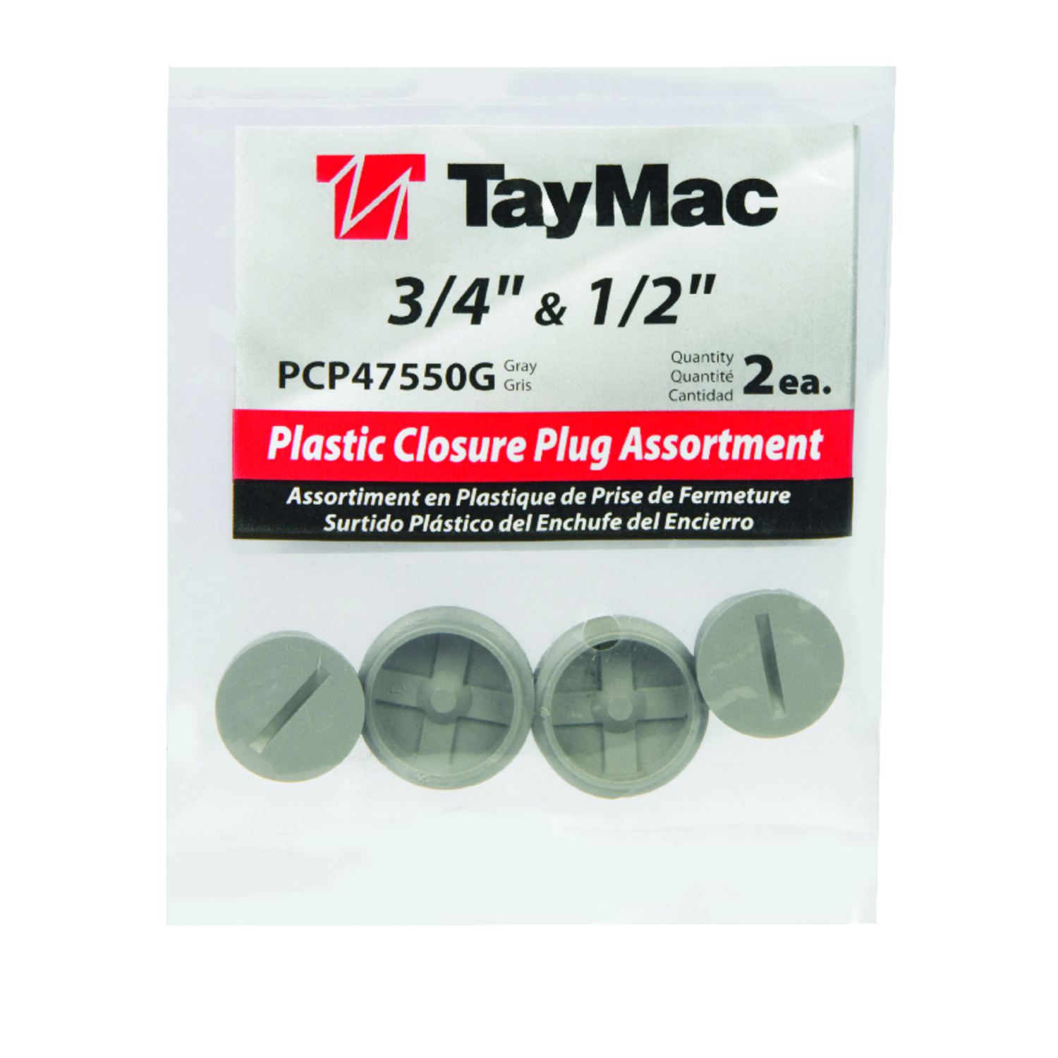 TayMac  Round  Plastic  Closure Plug  For Closure of Unused Box Outlets