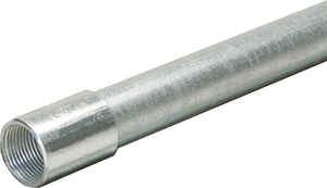 Allied Moulded  1-1/2 in. Dia. x 10 ft. L Galvanized Steel  Electrical Conduit  For IMC