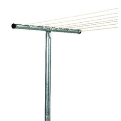 Household Essentials  2  L Silver  Steel  Clothesline Tee Post