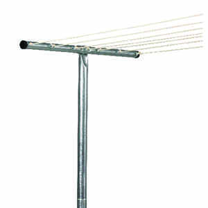 Household Essentials  2 in. L Silver  Steel  Clothesline Tee Post