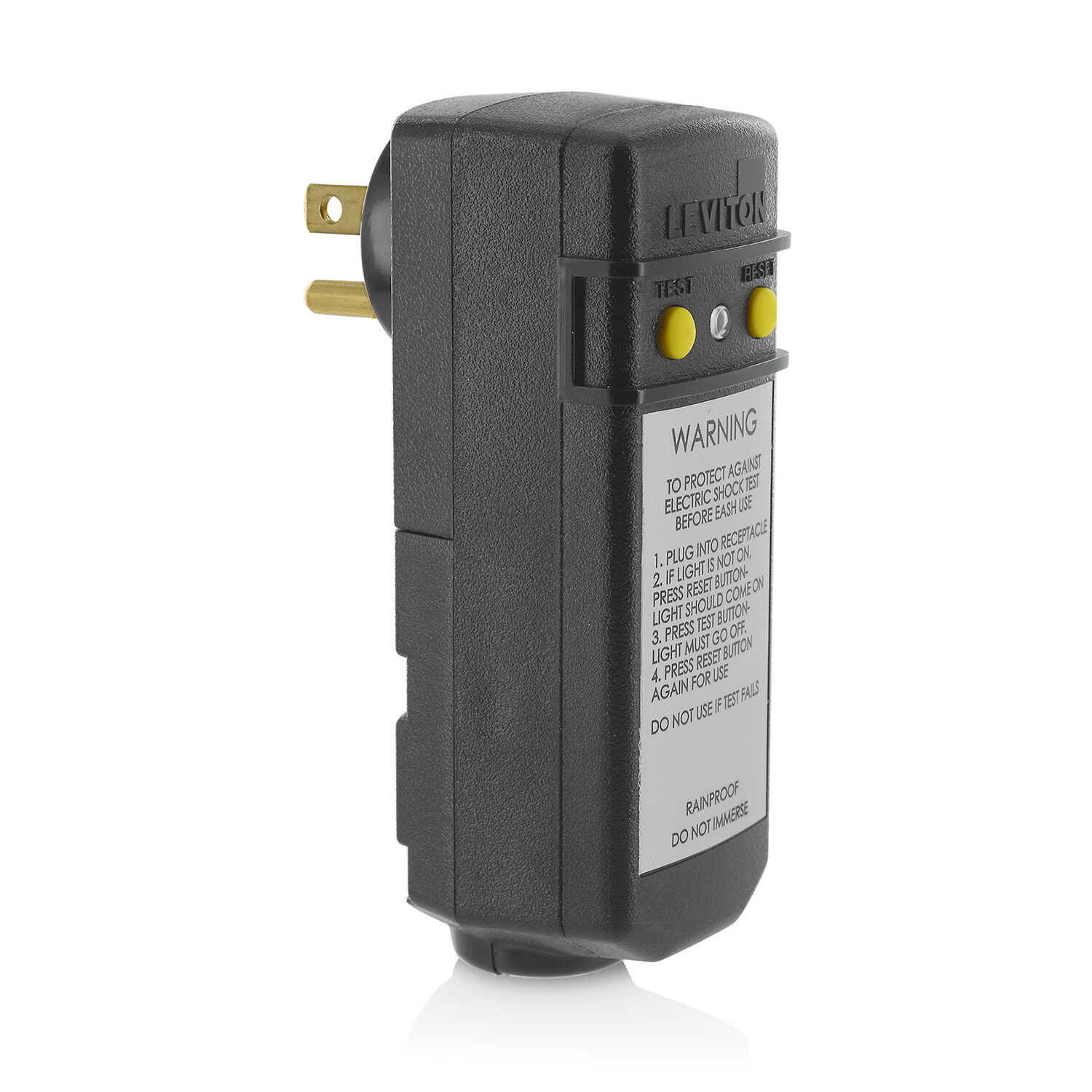 Leviton Commercial and Residential Thermoplastic GFCI Plug 5
