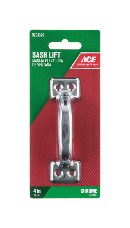 Ace  4 in. L Chrome  Steel  Universal  Sash Lift Handle  1 pk