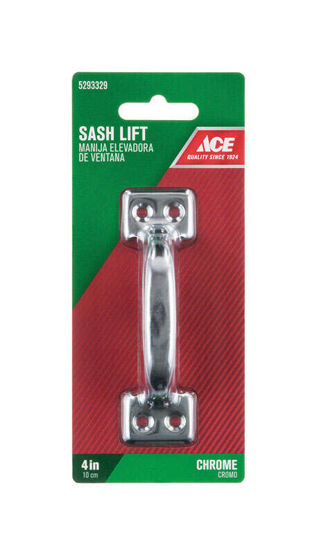 Ace  4 in. L Chrome  Steel  Universal  Sash Lift Handle  1