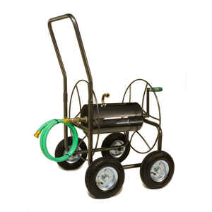 Yard Butler  400 ft. Wheeled  Silver  Hose Cart