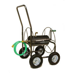 Yard Butler  400 ft. Wheeled  Hose Cart  Silver