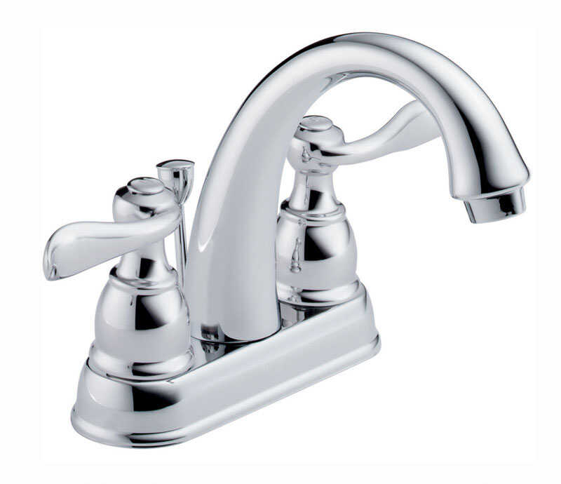 Delta  Windemere  Two Handle  Lavatory Pop-Up Faucet  4 in. Chrome