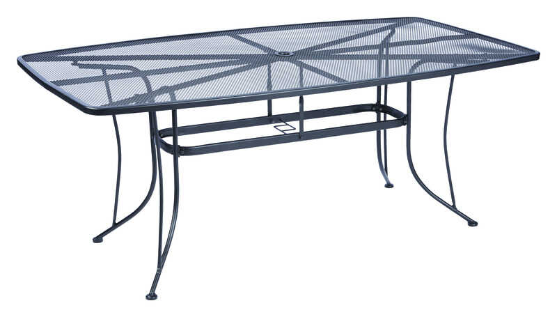 Living Accents  Black  Winston  Rectangular  Dining Table