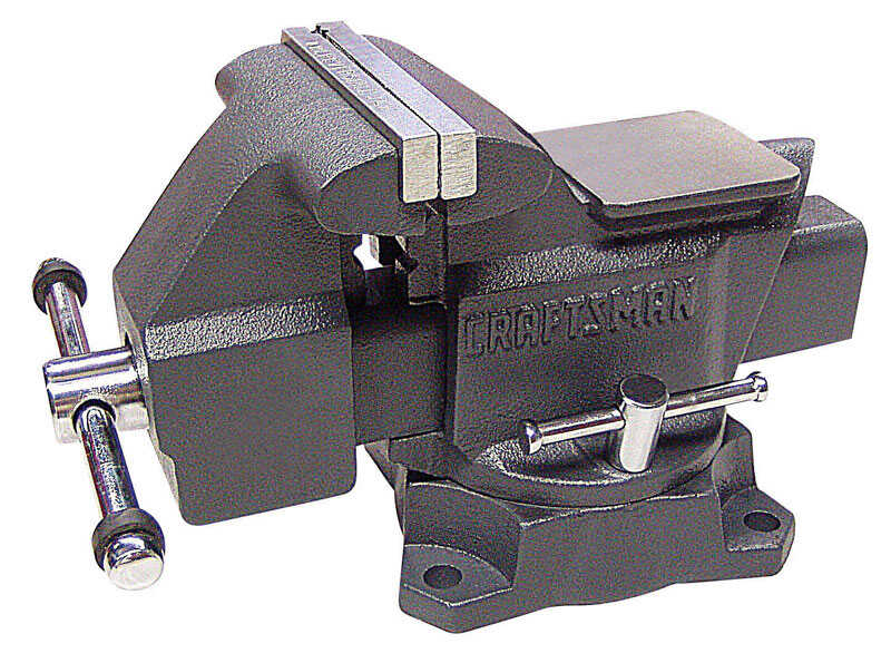 Craftsman  4.5 in. Steel  Swivel Base Bench Vise  Black