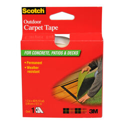 Scotch  1.4 in. W x 40 ft. L Reversible Outdoor  Carpet Tape