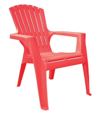 Adams Kids 1 Red Polypropylene Adirondack Chair Red Ace