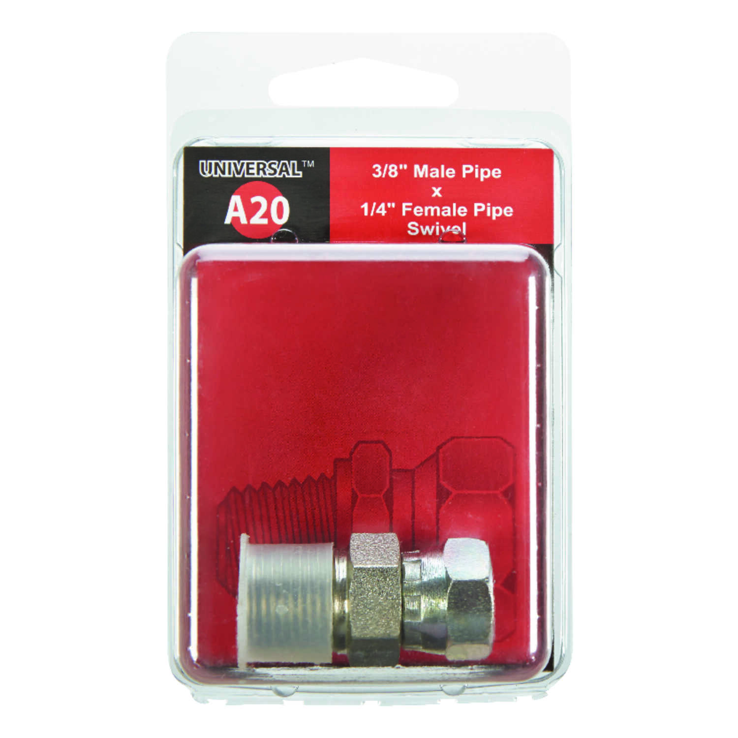 Apache  Steel  Hydraulic Adapter  3/8 in. Dia. x 1/4 in. Dia. 1 pk