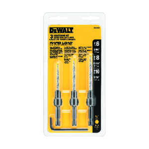 DeWalt  Steel  Countersink Set  1/4 in. Quick-Change Hex Shank  3