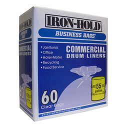 Iron-Hold 55 gal. Drum Liners Twist Tie 60 pk