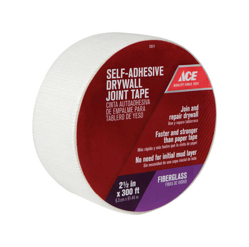 Ace  300 ft. L x 1.88 in. W Self Adhesive Drywall Joint Tape  Fiberglass Mesh  White