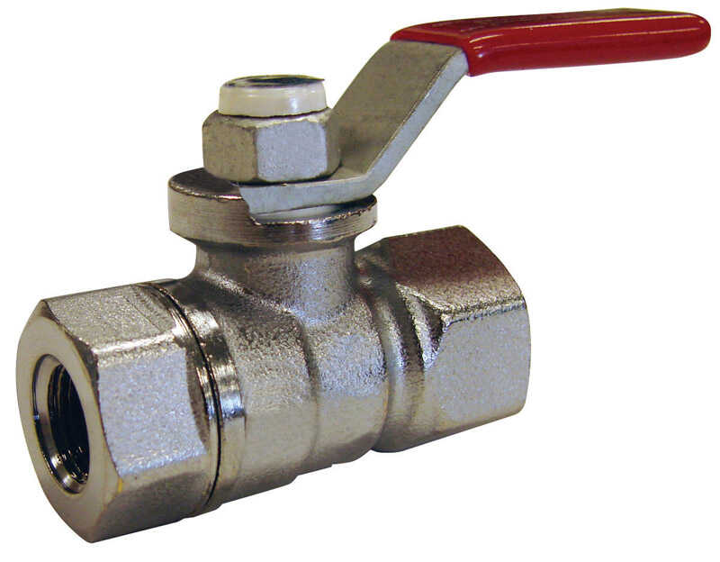 Mueller  Ball Valve  1-1/2 in. FPT   x 1-1/2 in. Dia. FPT  Brass  Packing Gland