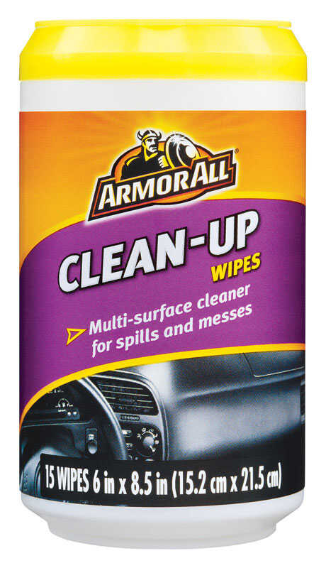 Armor All  Plastic/Vinyl  Cleaner/Conditioner  15 wipes Tub