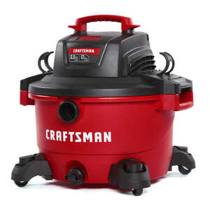 Craftsman  12 gal. Corded  6 hp Wet/Dry Vacuum  120 volt Red  26 lb. 1 pc. 10.5 amps