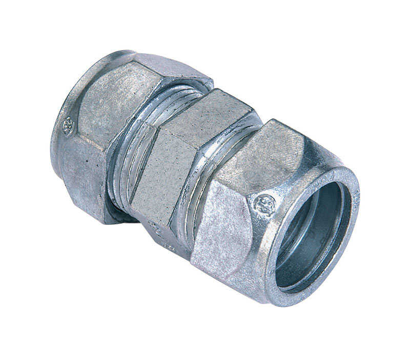 Sigma  1/2 in. Dia. Zinc  Compression Coupling  For EMT 50 pk