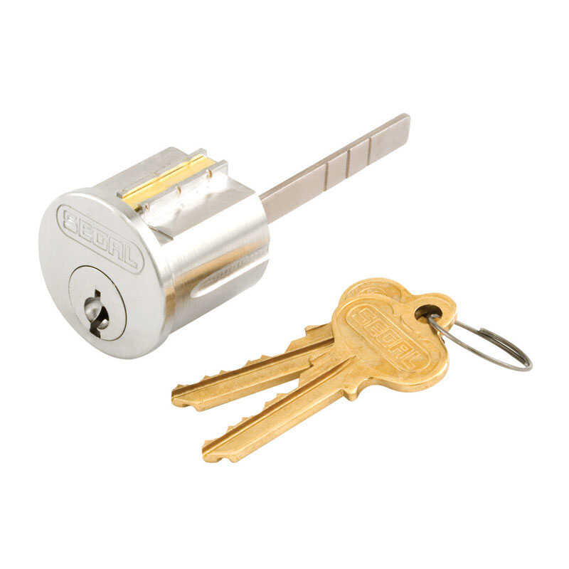 Prime-line  Segal  Brushed Brass  Solid Brass  Segal Lock Cylinder  Keyed Differently