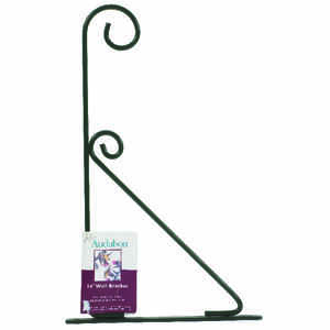 Audubon  Green  Steel  9.5 in. H Decorative  Plant Bracket  1 pk