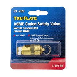 Tru-Flate  Brass  Safety Valve  1/4 in. Male  NPT  1 pc.