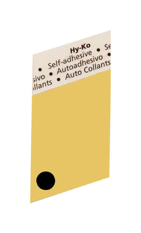 Hy-Ko  1-1/2 in. Black  Aluminum  Self-Adhesive  Special Character  Period  1 pc.
