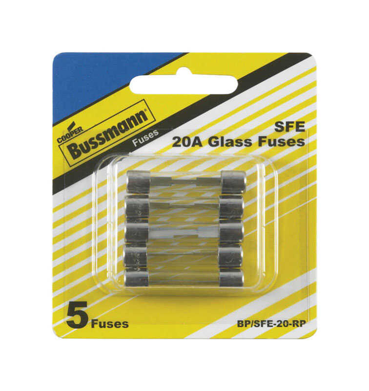 Bussmann  20 amps SFE  Mini Automotive Fuse  5 pk