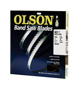 Olson  1/4 in. W x 0.02 in.  x 93-1/2 in. L Carbon Steel  Band Saw Blade  6 TPI Hook  1 pk