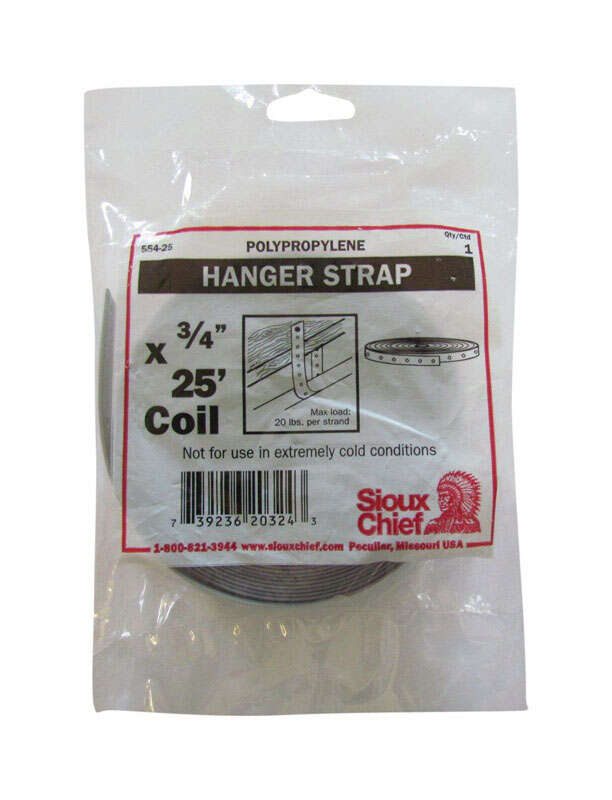 Sioux Chief  25 ft. L Polypropylene  Pipe Hanger Strap