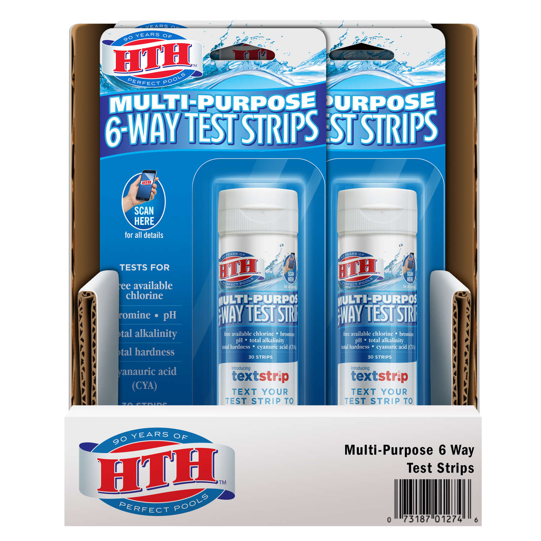 Hth 6 Way Test Strips 2 5 Oz Ace Hardware
