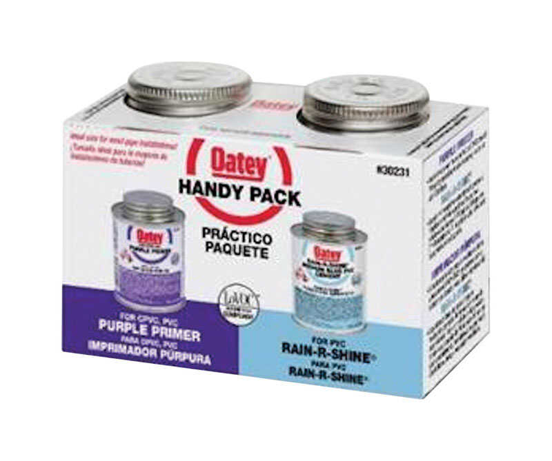 Oatey  Handy Pack  Primer and Cement  For PVC 2 pk Blue