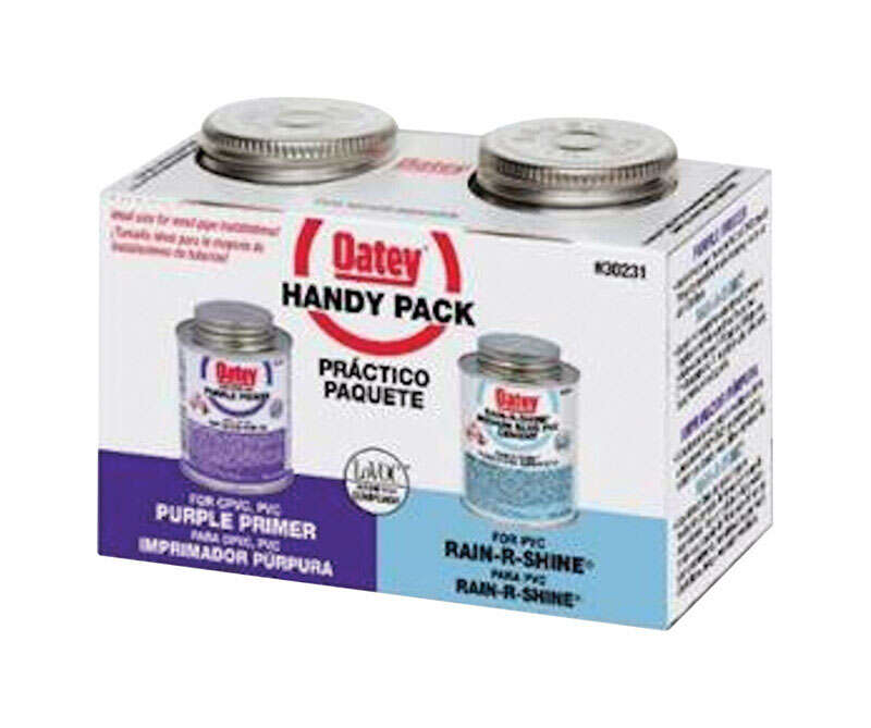 Oatey  Handy Pack  Blue  Primer and Cement  For PVC 2 pk