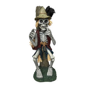 DHI  Skeleton Scarecrow  14.9 in. W x 14.5 in. L Halloween Decoration