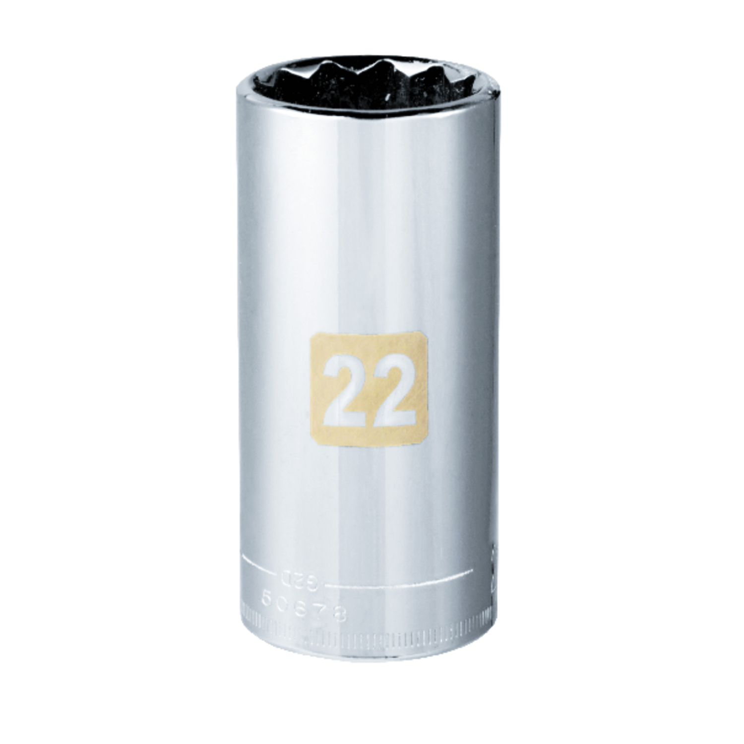 Craftsman  22 mm  x 3/8 in. drive  Metric  12 Point Deep  Socket  1 pc.