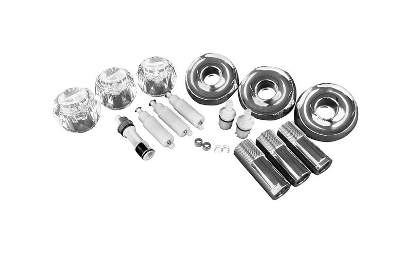 Ace  Knob  Chrome  Clear  Tub/Shower  Trim Kit