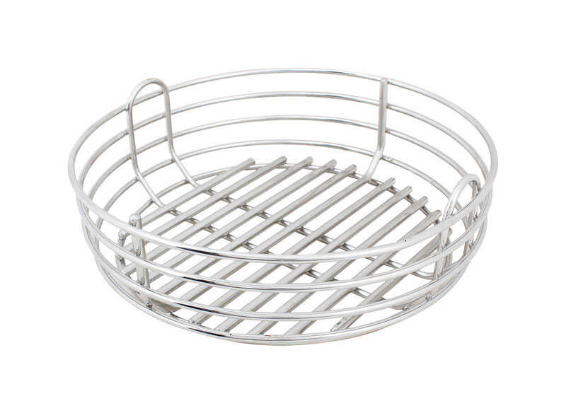 Kick Ash Basket  Stainless Steel  Charcoal Grate  3.62 in. H x 10 in. W x 10 in. L