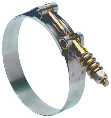 Ideal  Tridon  3-9/16 in. 3-7/8 in. SAE 356  Hose Clamp  Stainless Steel Band  T-Bolt