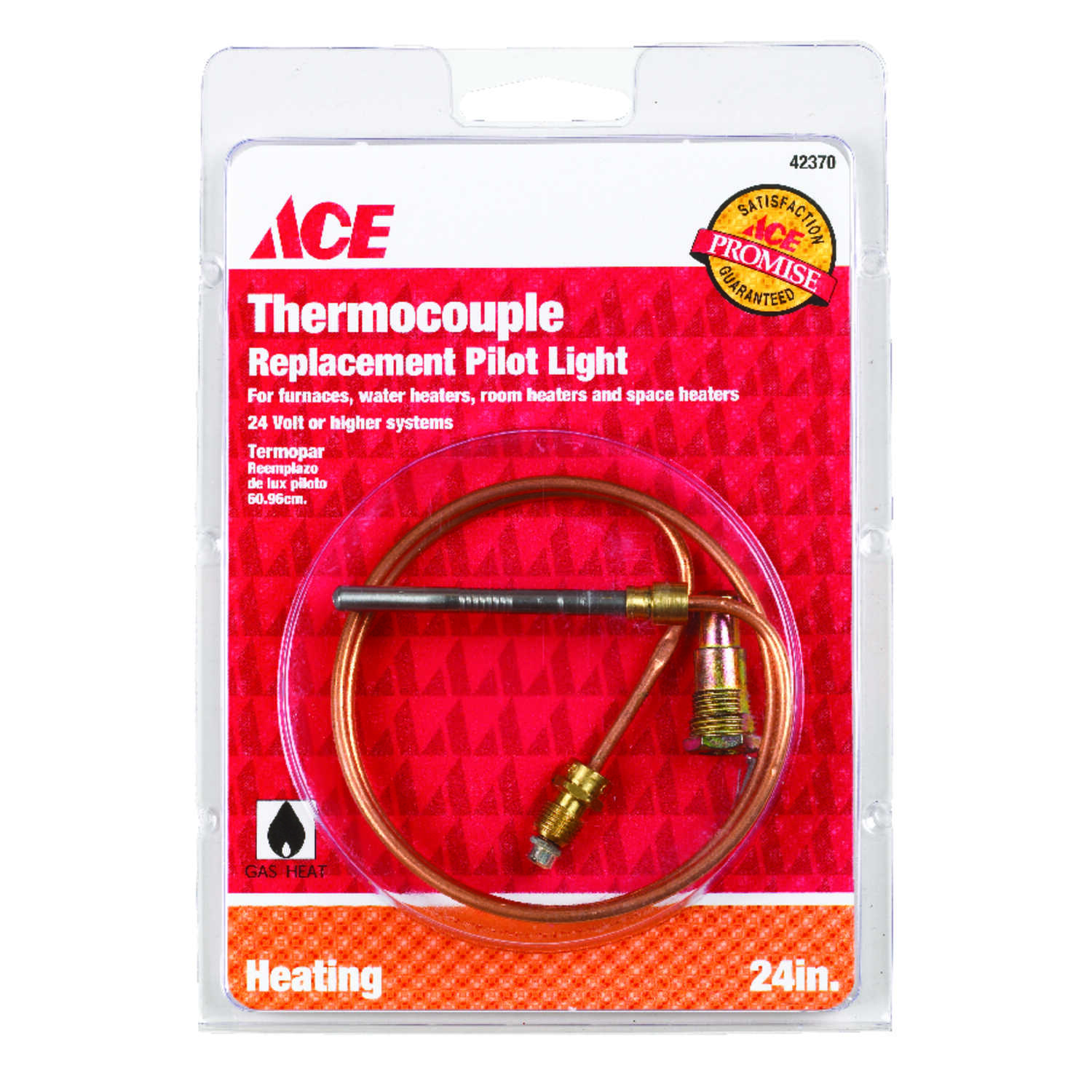 Ace  24 in. L 24 volt Millivolt Universal Thermocouple