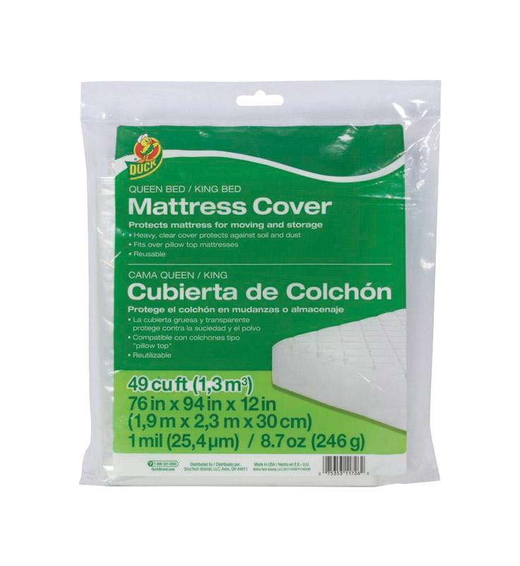Duck Brand  Queen  Plastic  Mattress Cover