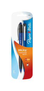 Papermate  Inkjoy 500RT  Blue  Retractable Ball Point Pen  2 pk