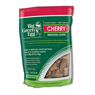 Big Green Egg  All Natural Cherry  Wood Smoking Chips  180 cu. in.